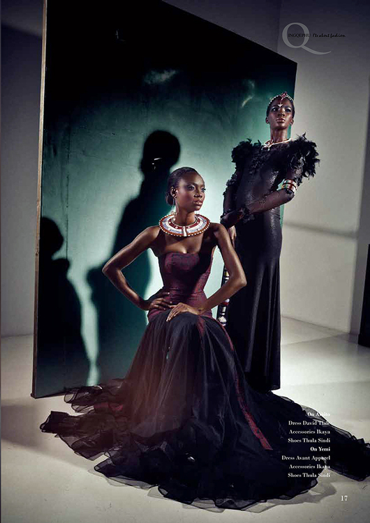Africa's Next Top Model's Opeyemi & Aamito Stacie Lagum for Ingqephu Magazine - Bellanaija - November 2014004 (1)