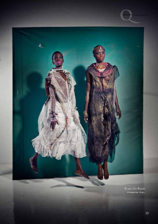 Africa's Next Top Model's Opeyemi & Aamito Stacie Lagum for Ingqephu Magazine - Bellanaija - November 2014004 (4)