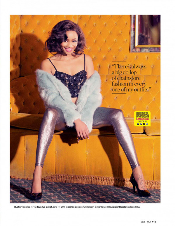 Bonang Matheba for Glamour SA Cover - Bellanaija - November 2014002