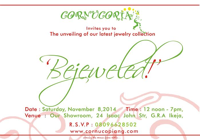 Cornucopia Bejeweld Collection Unveiling - Bellanaija - November 2014