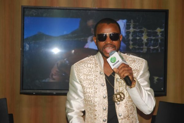 Glo Ambassador, Sanni Danja entertaining fans at Industry Nite