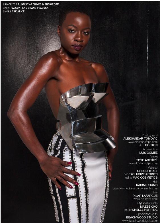 Danai Gurira for Bello Magazine - Bellanaija- November 2014007