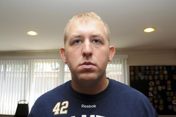 Ferguson, Missouri officer Darren Wilson seen in St. Louis County Prosecutor's Office undated evidence photo