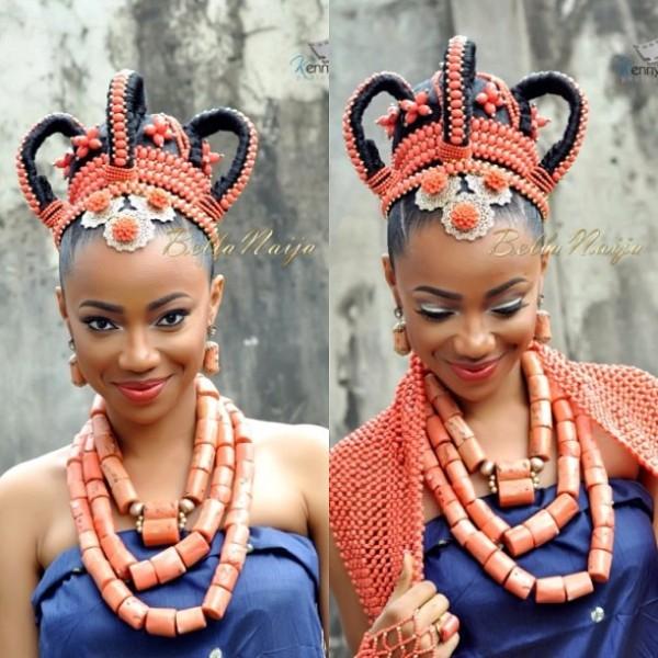 BN Bridal Beauty: Edo Brides in Beautiful Beaded Benin Wedding