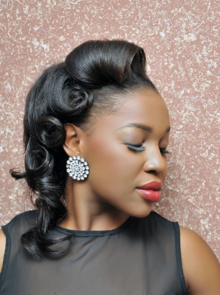 Natural pin up hairstyles for black women