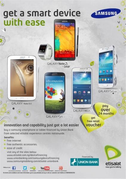 Samsung Mobile, Etisalat & Union Bank Launch New Flexible