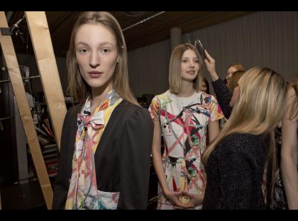 Franzi Muller launches P&G Future Fabrics Giles Deacon Show