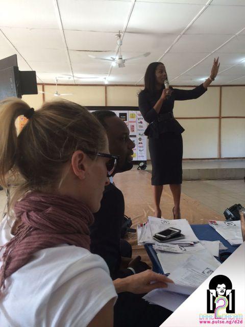 Uchenna Mojekwu (Head of Corporate communications FCMB) addressing the Students of Uniport