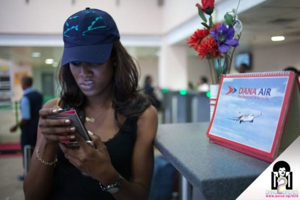 Social Media Team Member Josephine (Dare2Dream) at the Lagos Airport