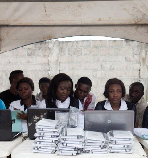 Team FCMB enrolling Students