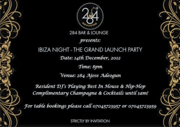 It's Ibiza Night! 284 Bar & Lounge Opens with a Grand ...
