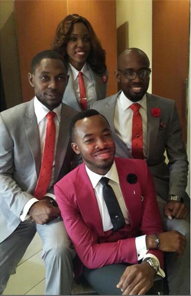 OC Ukeje Wedding Groomsmen - Best Man Kemi Lala Akindoju
