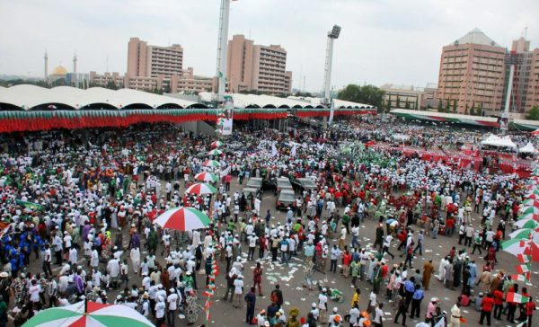 PIC. 12. PRESIDENT JONATHAN DECLARES HIS INTEREST IN 2015 PRESIDENTIAL RACE IN  ABUJA