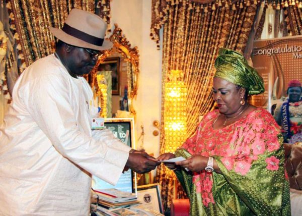 PIC. 25. FIRST LADY DAME PATIENCE JONATHAN RECEIVES ACTIVATED IDENTITY CARD IN ABUJA