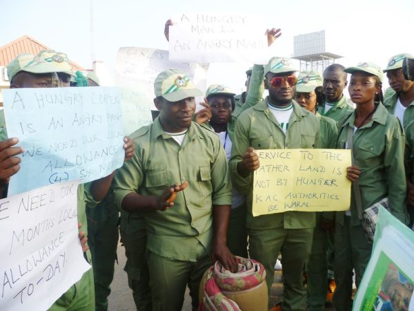 PIC. 3. NYSC CORP MEMBERS PROTEST IN KUJE