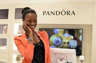 Winner of the Elite Models Nigeria 2014 competition, Mayowa Nicholas designed her own bracelet in the Lekki store