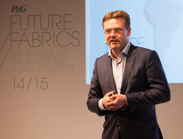 Robert van Pappelendam, Vice President of P&G Fabric Care, Europe at the Future Fabrics event in Berlin, Germany
