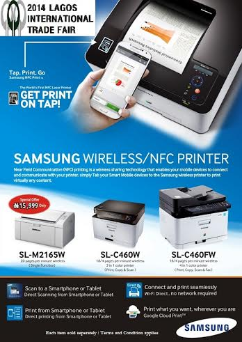 Samsung Wireless-NFC Printer - Bellanaija - November 2014