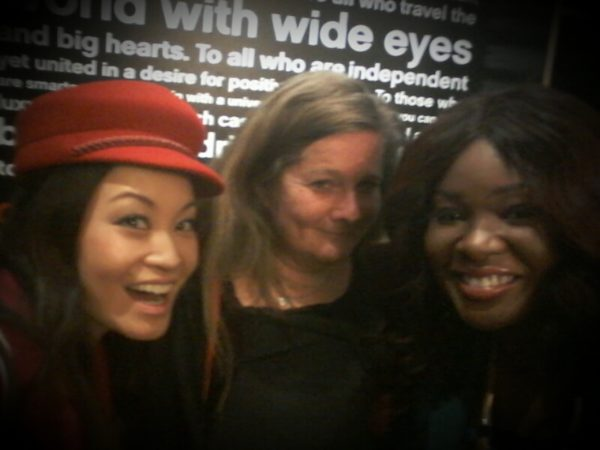 At the drinks reception with Jennifer Su & Alison Reid (Director of Communications VIMN Africa)