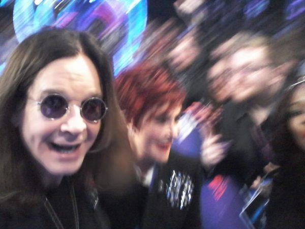 My failed attempt at a selfie with (Sharon & Ozzy Osbourne) – my selfie-stick fell my hand.