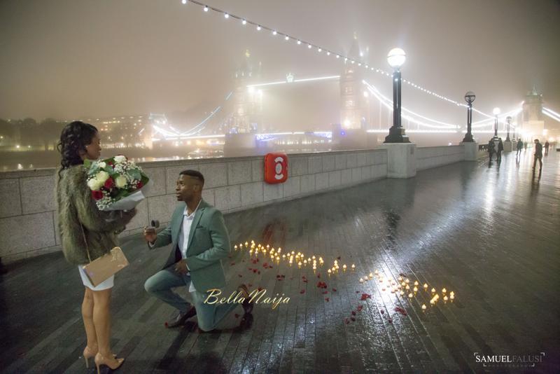 Bnbling Dumebi Ezeikels Tower Bridge London Proposal Bellanaija