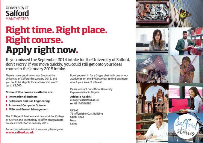 University of Salford - BellaNaija - November 2014