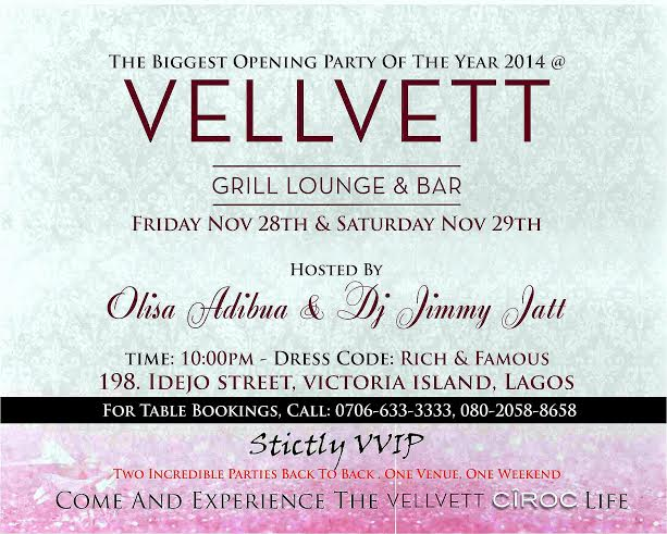 Vellvett Grill Lounge & Bar Opening - BellaNaija - November 2014