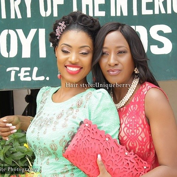 Celebrity Wedding Nollywood Movie: Ireti Doyle Gives Away Daughter Bimbo In Marriage