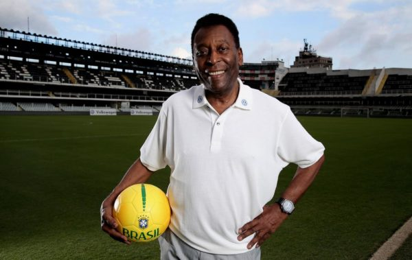 Pele At Stadium Vila Belmiro