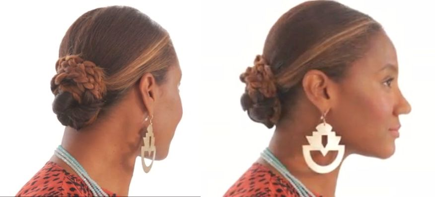 Essence Hair Style Bn Beauty How To Make This Super Easy 4Part Braided Chignon .