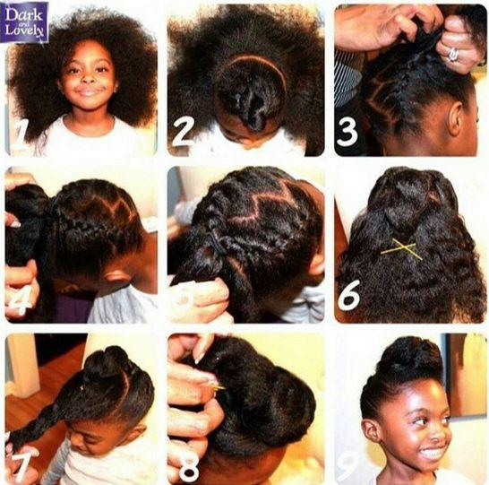 Milkmaid braid natural hair