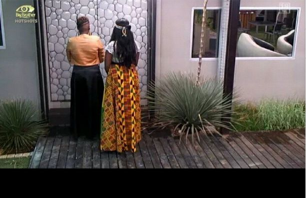 Butterphly & Ma'm Bea leaving the BBA house