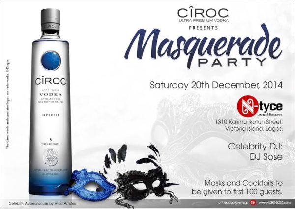Ciroc Masquerade Party - BellaNaija - December 2014