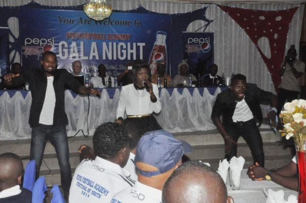 Debbie Rise, second runner-up in Nigerian Idol Season 3 entertaining the guests