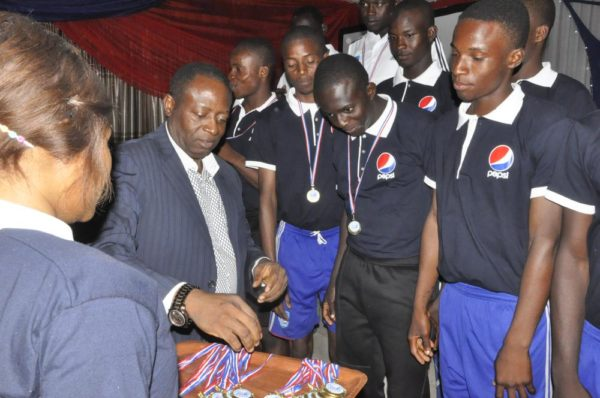 Players receiving Medal during the Pepsi Football Academy's Gala Night in Lagos at the weekend