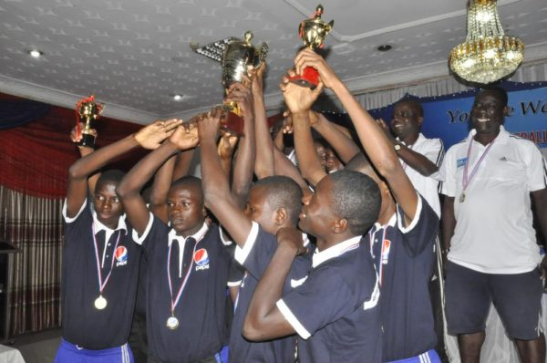 PFA North celebrating with their trophy