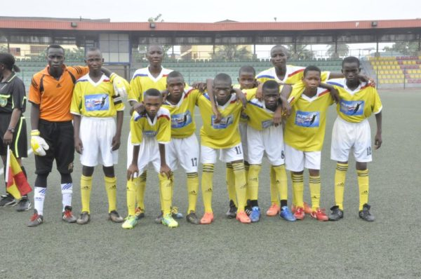 The Pepsi Football Academy U-14 from the East getting ready for action during the Pepsi Football Academy Festival of Youth in Lagos at the weekend