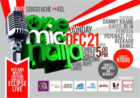 Flier - One Mic Naija December 2014