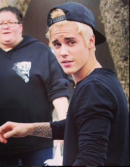 Justin Bieber's Blonde Hair - BellaNaija - December 2014