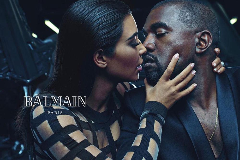 Kim & Kanye West model Balmain