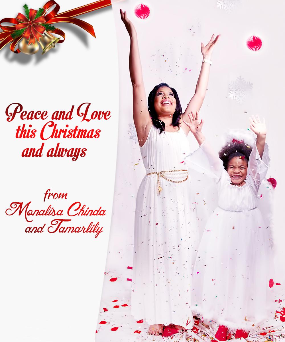 Monalisa Chinda - Xmas Card - Dec 2014 - BellaNaija.com