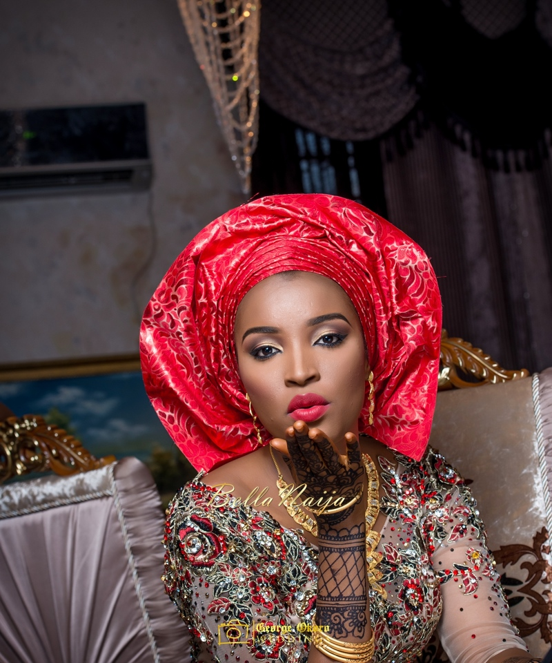Muneerah & Umar | Kano - Hausa Muslim Nigerian Wedding - George Okoro Photography | BellaNaija |.George Okoro-20