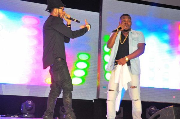 Image result for phyno and olamide performing on stage