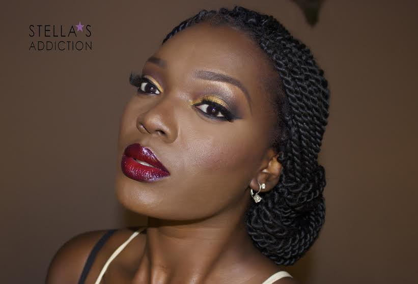 Stella's Addiction Warm Glam Makeup Tutorial - BellaNaija - December 2014