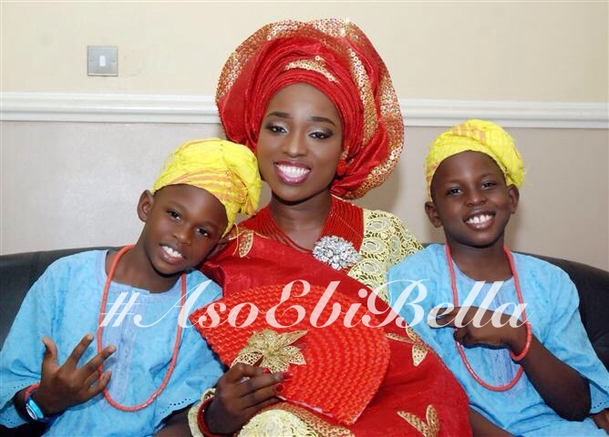 Tobi and Toni with the bride Bukola