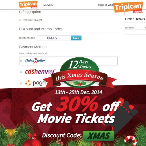Tripican 12 Days of Movies - BellaNaija - December 2014