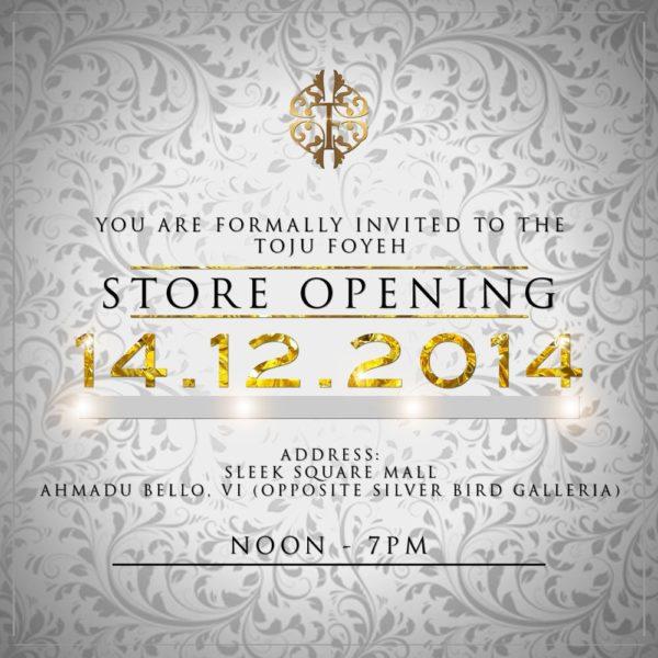 toju foyeh store launch INVITE 2