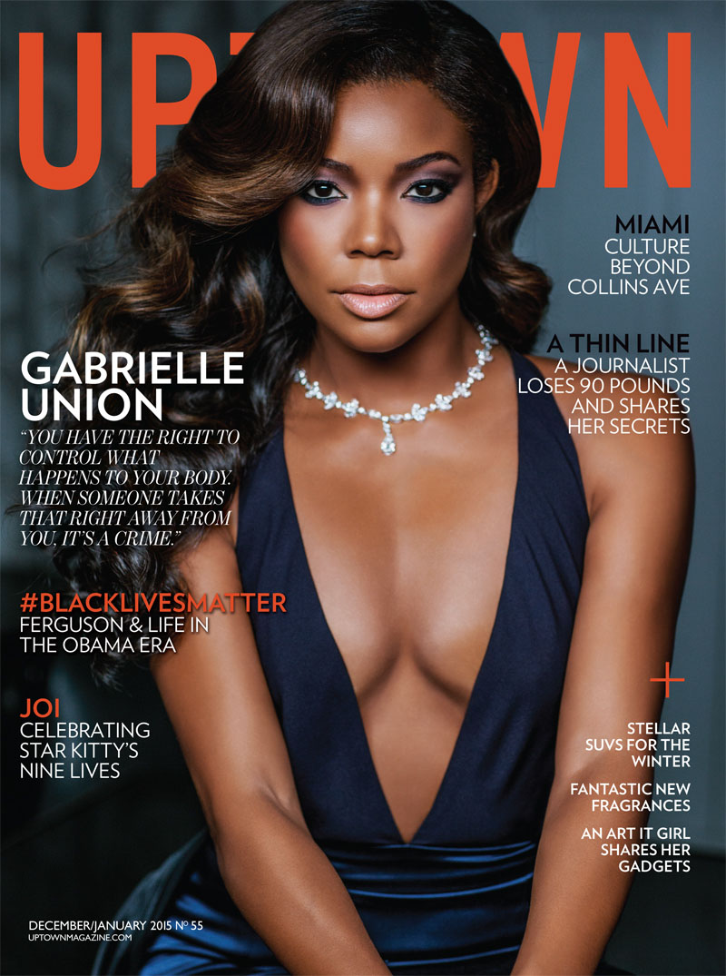 Gorgeous Gabrielle Union Covers Uptown Magazines January 2015 Issue