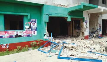 APC Secretariat bombed