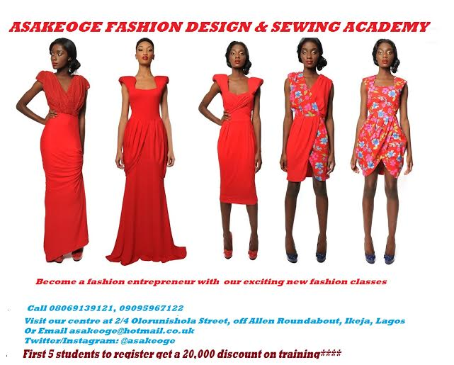 Become A Fashion Entrepreneur With The Asakeoge Professional Fashion Training Class Register Now Bellanaija
